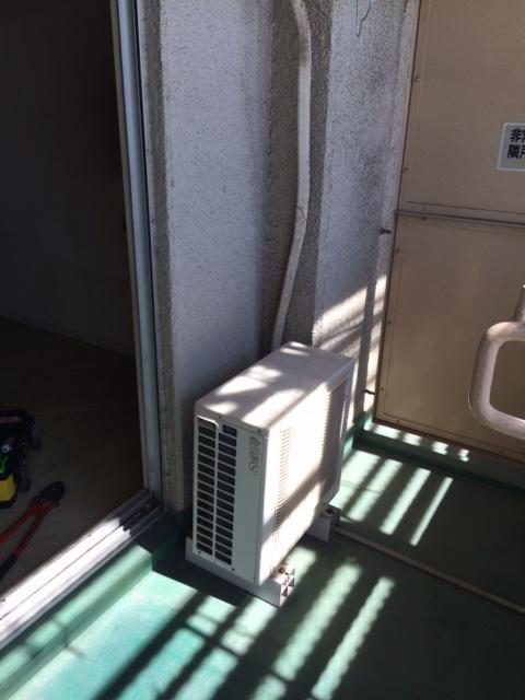 エアコンの室外機取外し前