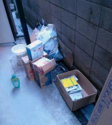 千種区で引越しゴミ、ふろのフタ、ホットプレート、段ボール、混合ゴミ、袋ゴミを安く回収しました!!
